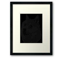 ASCII Doge Framed Print