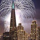 Fireworks over the Transamerica Building, San Francisco by Can Balcioglu