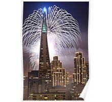Fireworks over the Transamerica Building, San Francisco Poster
