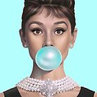 Hot Blue Audrey by GVibesShop