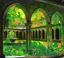 Courtyard of Leaves by Richard Murch