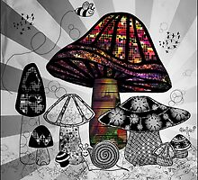 Technicolor Mushroom Rays  by themighty