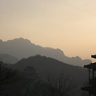 sunrise over the great wall of China by rani