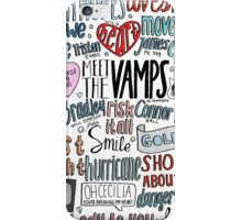 the vamps collage COLORED iPhone Case/Skin