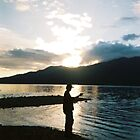 Fishing on Lake Quinault, WA by wienertales