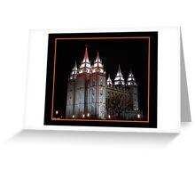 Salt Lake Temple at Night Greeting Card