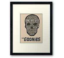 The Gonnies - Quotes Framed Print
