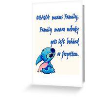 Lilo and Stitch - OHANA quote Greeting Card
