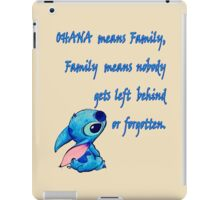 Lilo and Stitch - OHANA quote iPad Case/Skin