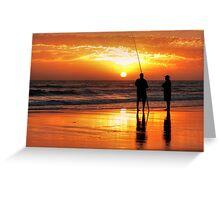 Two Mates Fishing Greeting Card
