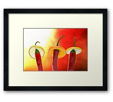 The Red, the Hot, the Chili Framed Print