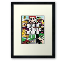 Grand Theft Mario Framed Print