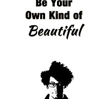 "The IT Crowd Inspired Moss Minimalist Art Print ""Be Your Own Kind of Beautiful"" by Ed Warick"