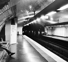 Paris, Metro, Alone by Andrew Reid Wildman