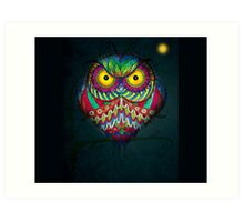 """""""Angry Owl by Night"""" Art Print"""