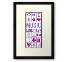 Justin Bieber Music Mondays, Journals Framed Print