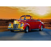 1940 Ford Deluxe Convertible Photographic Print