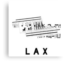 Los Angeles Airport Diagram Canvas Print