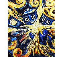 Tardis by Van Gogh - Doctor Who Photographic Print