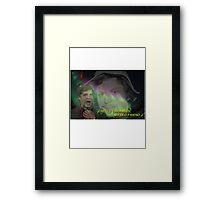 """Michael Cera - """"Hello Darkness"""" Framed Print"""