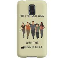 TWD- Rick Carl Michonne Daryl Glenn Quote Samsung Galaxy Case/Skin
