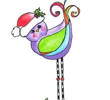 Santa Birdy by artfulenergies