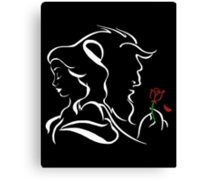 Belle, The Beast and The Rose - The Beauty and The Beast Canvas Print