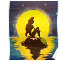 Ariel & the Moon - the Little Mermaid Poster