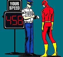 The Flash Funny Nerdy by peetamark