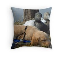 "Resting before ""The Hunt"" Throw Pillow"