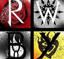 Team RWBY 4 Way Combo Symbols by FandomTrash14