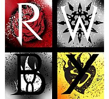 Team RWBY 4 Way Combo Symbols Photographic Print