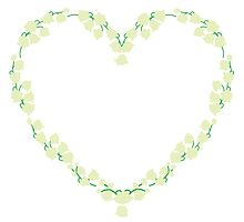 Lily of the walley heart wreath by Ilze Lucero