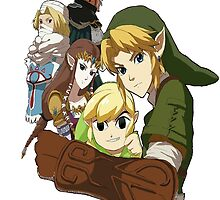 zelda characters cool design by triforceyeah89