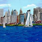 SAILING ON THE HUDSON by WhiteDove Studio kj gordon