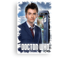Nerdy Dr Who T-Shirt / Hoodie Canvas Print