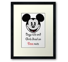 Boys Rule Framed Print