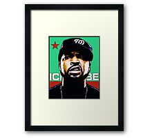HIP-HOP ICONS: ICE CUBE Framed Print