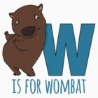 W is for Wombat by beccabass