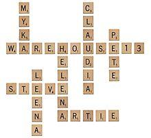 Warehouse Scrabble Photographic Print