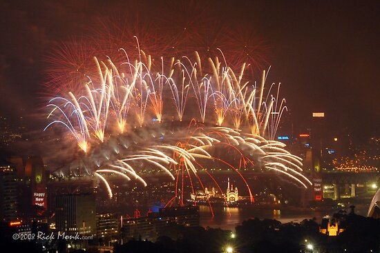 Sydney Lights up - New Years Eve 2007/2008 by Rick Monk