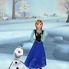 Anna and Olaf from Frozen 3 by LokiLaufeysen