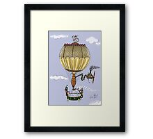 STEAMPUNK HOT AIR BALLOON Framed Print