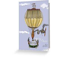 STEAMPUNK HOT AIR BALLOON Greeting Card