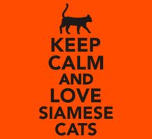 Keep calm and love Siamese cats Kids Clothes
