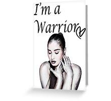 Demi Lovato Warrior Greeting Card