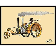 1916 HAPPY FARMER STEAMPUNK TRACTOR Photographic Print