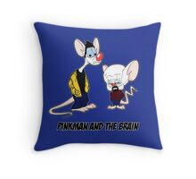 Pinkman and the brain - Breaking Bad/ Pinky and the brain Throw Pillow