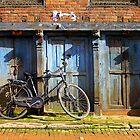 Bike In Bahktapur by Michael Farruggia