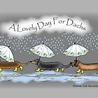 A lovely day for dachs by Diana-Lee Saville